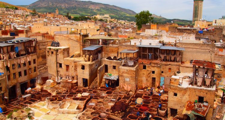 Color-exagerated view of a leather-processing area inside the medina of Fez, Morocco. Be glad pictures don't smell (@torrenegra).